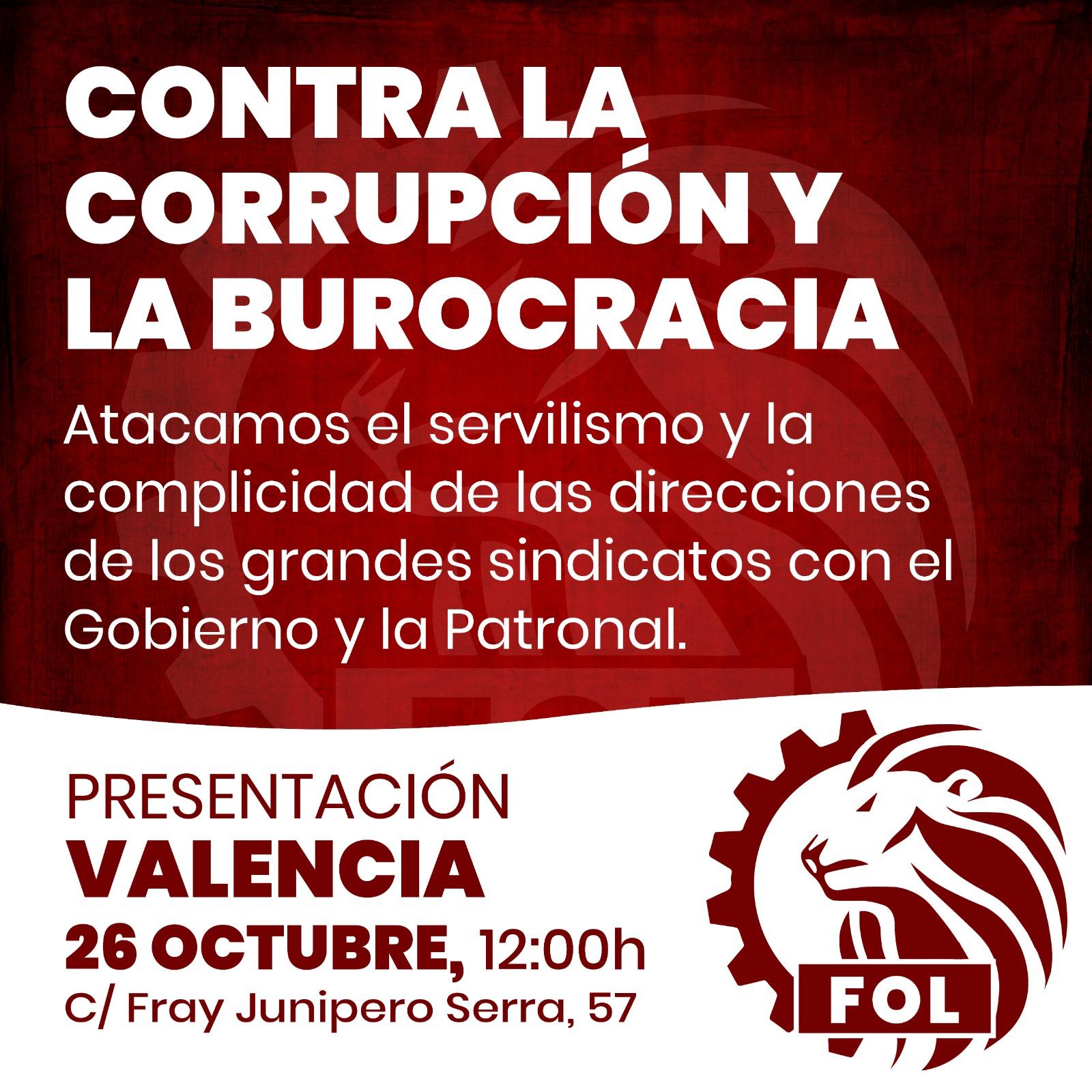 CONTRA LA CORRUPCIÓN Y LA BUROCRACIA