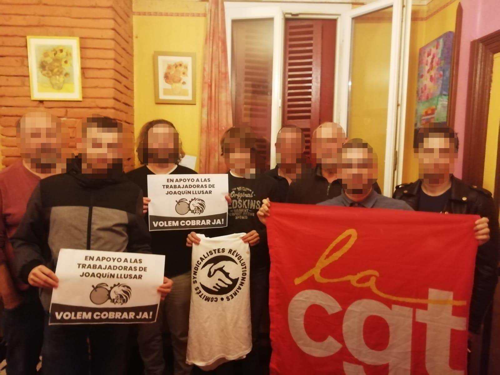 Apoyo Desde Francia A Trabajadores De Joaquin Llusar