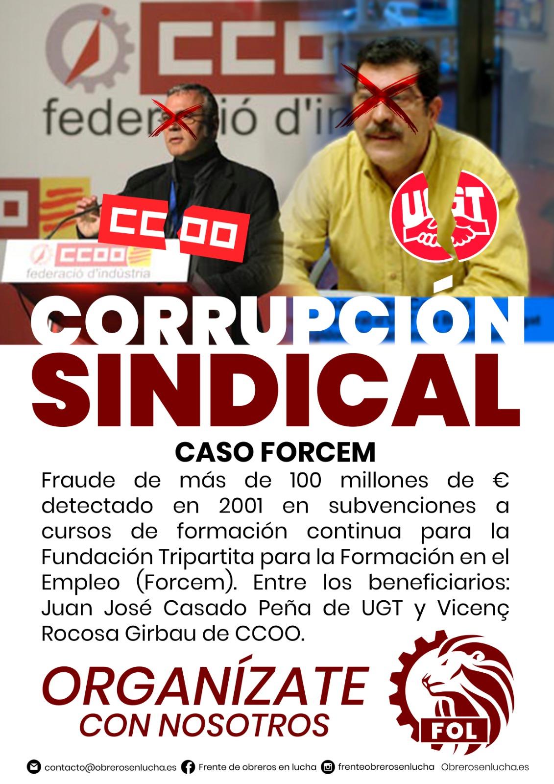 CORRUPCIÓN SINDICAL – CASO FORCEM