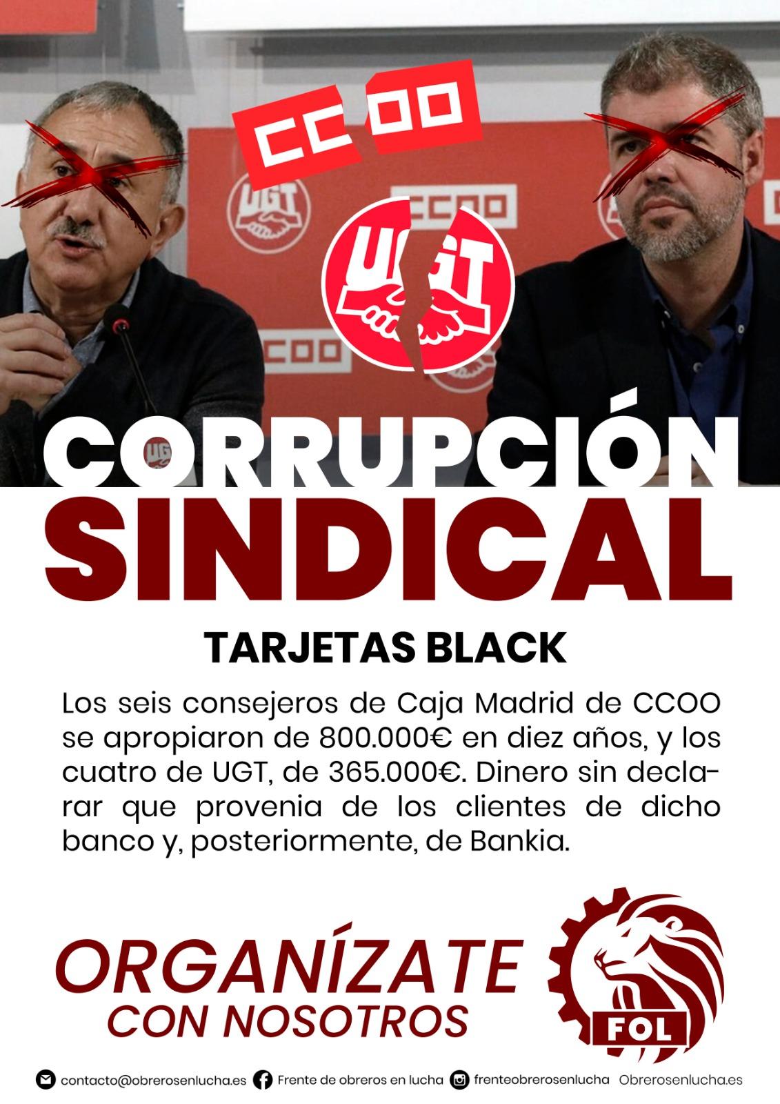 CORRUPCIÓN SINDICAL-TARJETAS BLACK