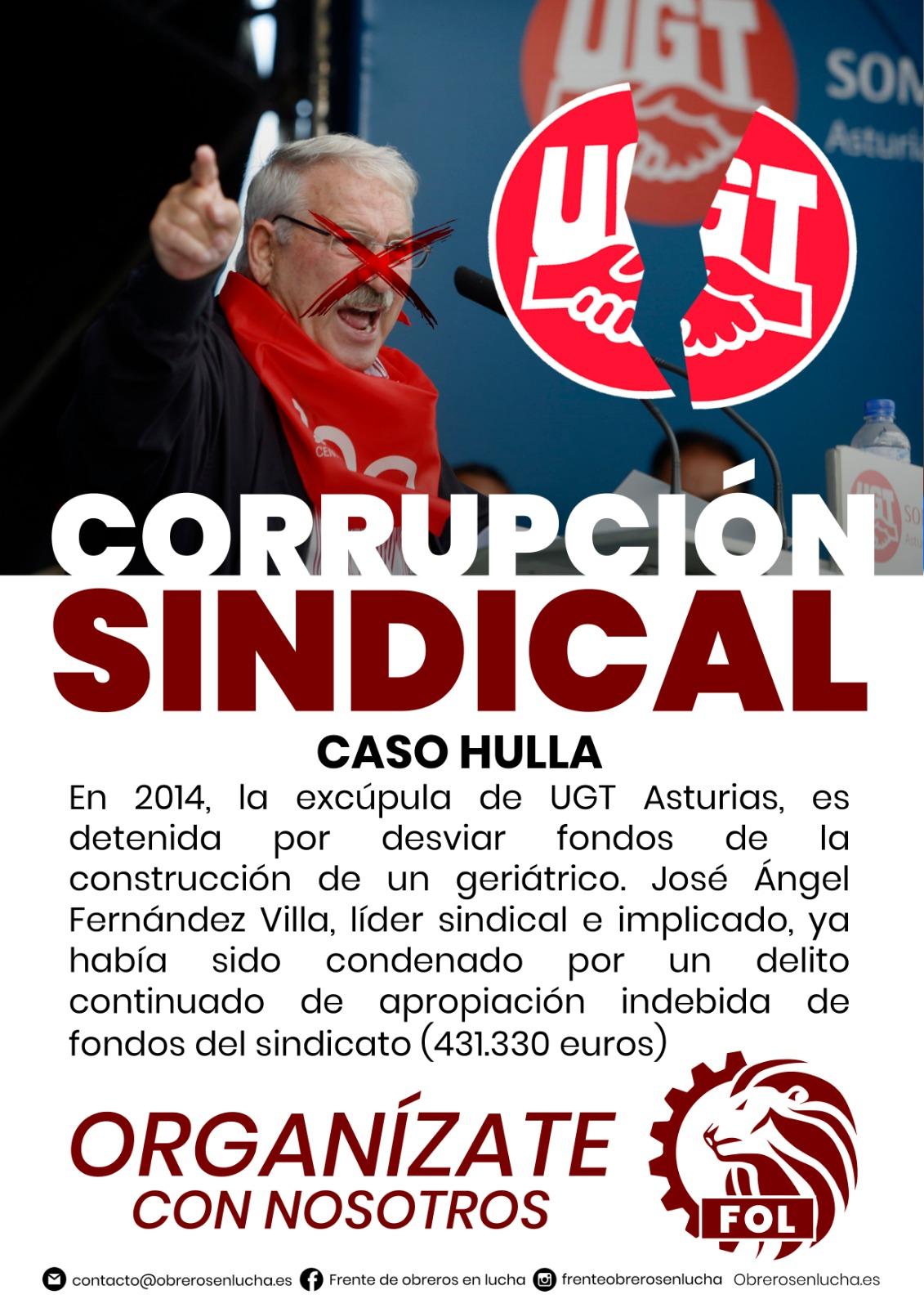 CORRUPCIÓN SINDICAL- CASO HULLA
