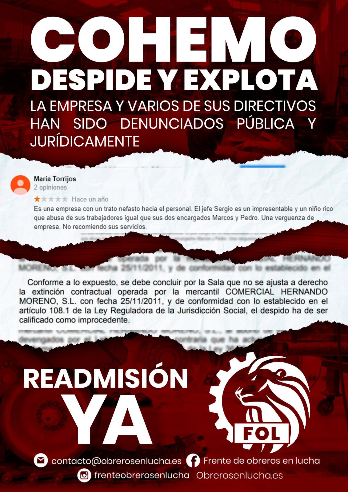 COHEMO DESPIDE Y EXPLOTA
