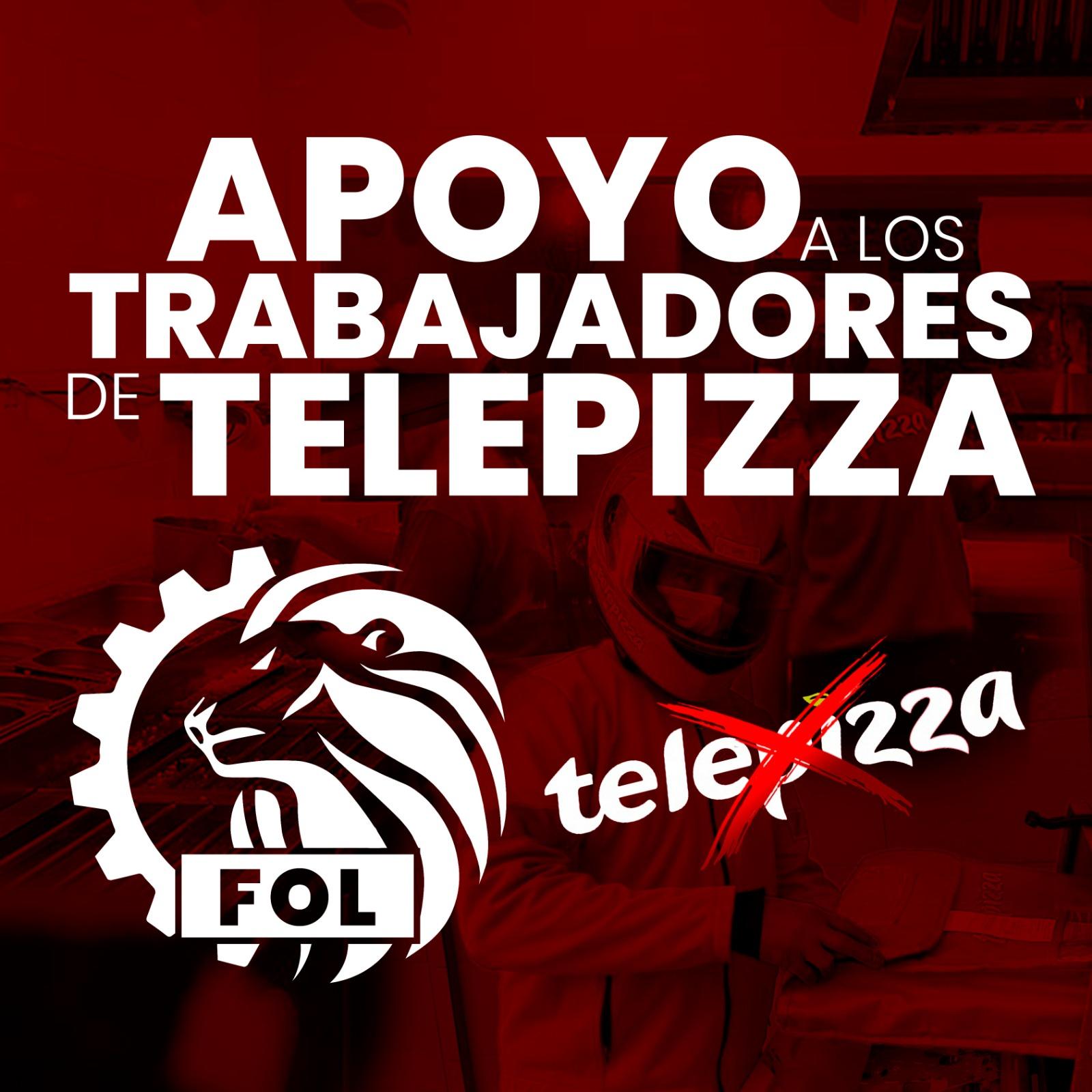 El Frente De Obreros En Lucha En Apoyo A Los Trabajadores De Telepizza