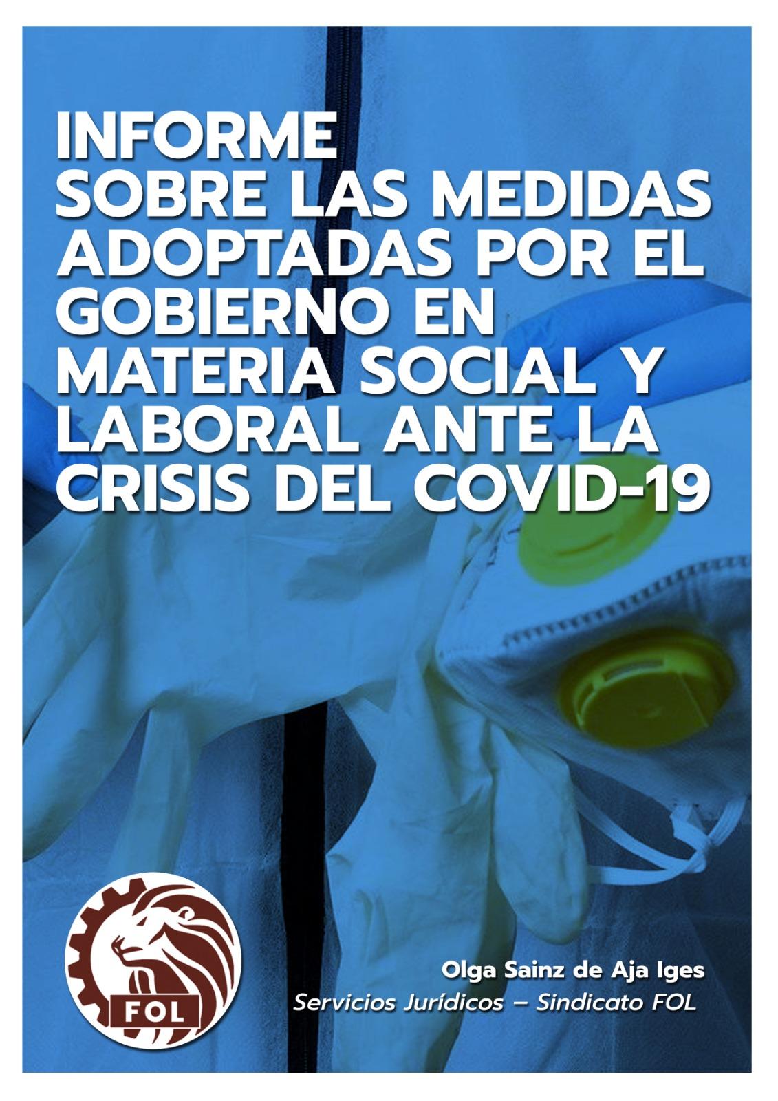 Informe Sobre Las Medidas Adoptadas Por El Gobierno Sobre Materia Social Y Laboral Ante La Crisis Del Covid-19