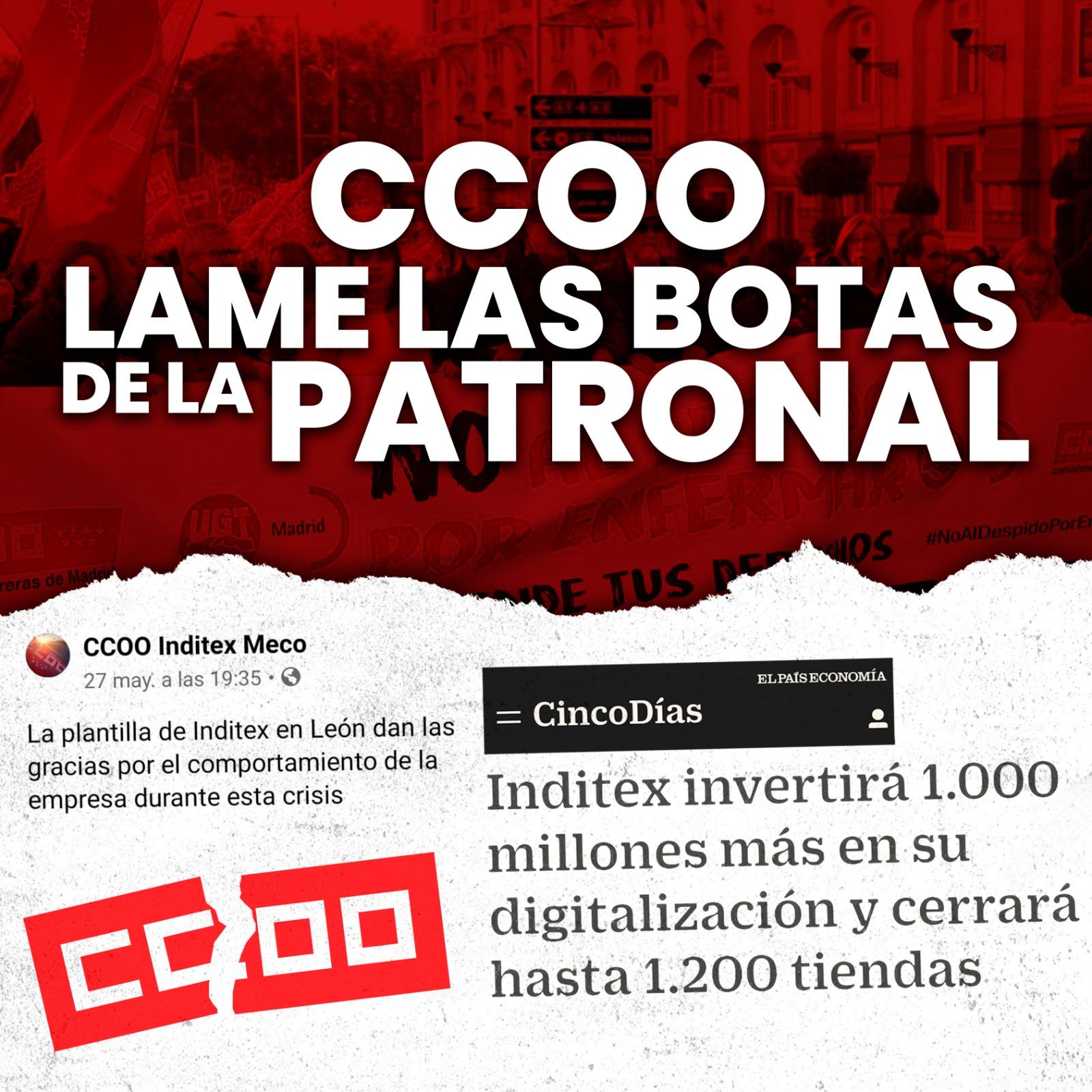 CCOO LAME LAS BOTAS DE LA PATRONAL