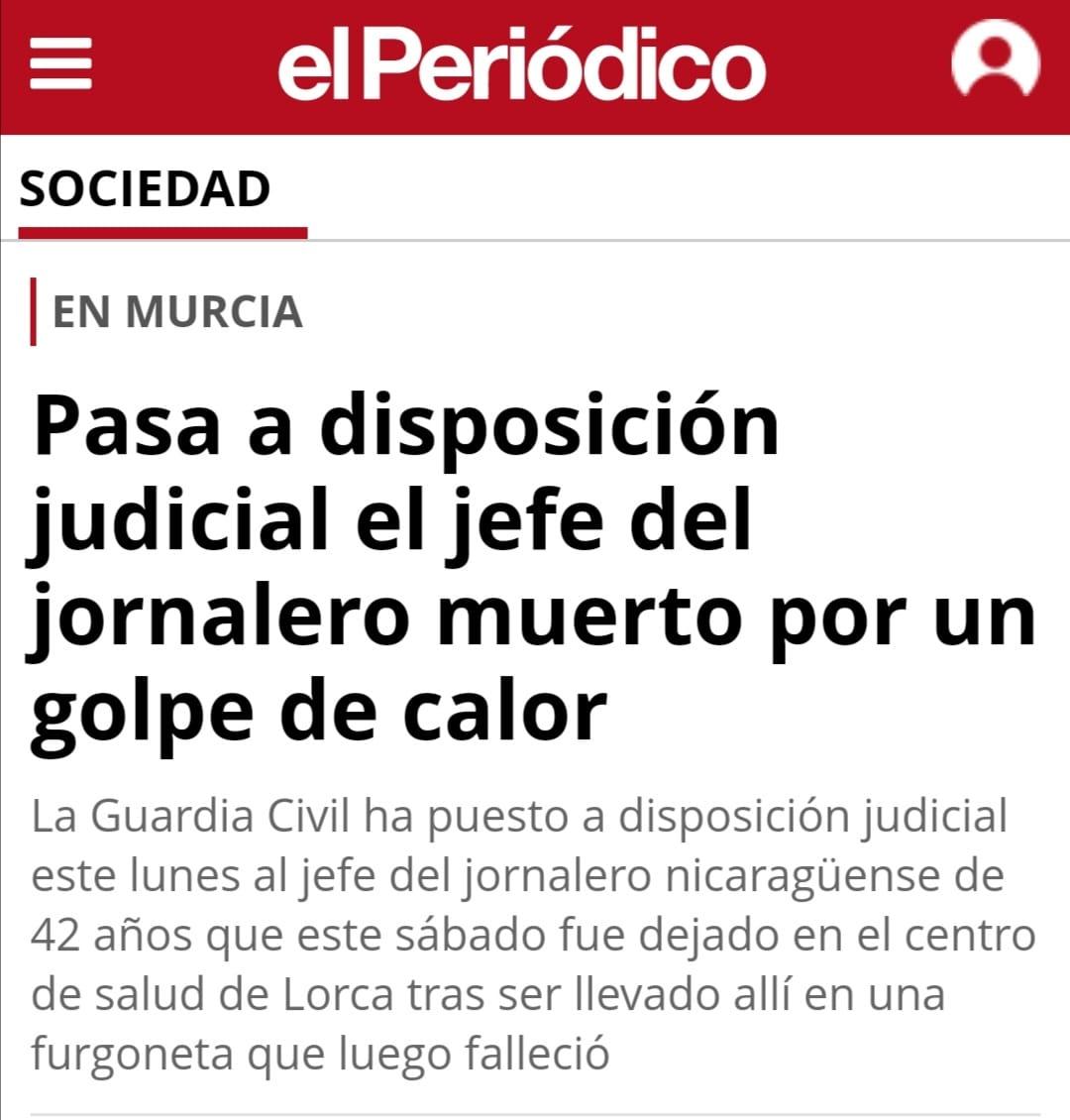 Contra La Muerte De Un Jornalero