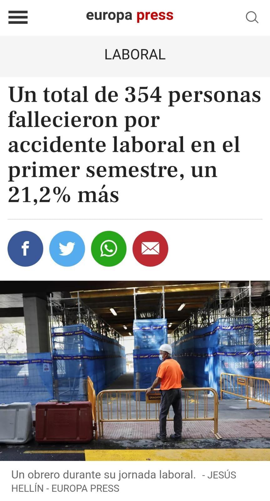 Muertes Por Accidente Laboral
