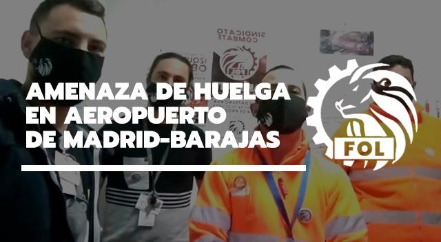 AMENAZA DE HUELGA EN AEROPUERTO MADRID-BARAJAS