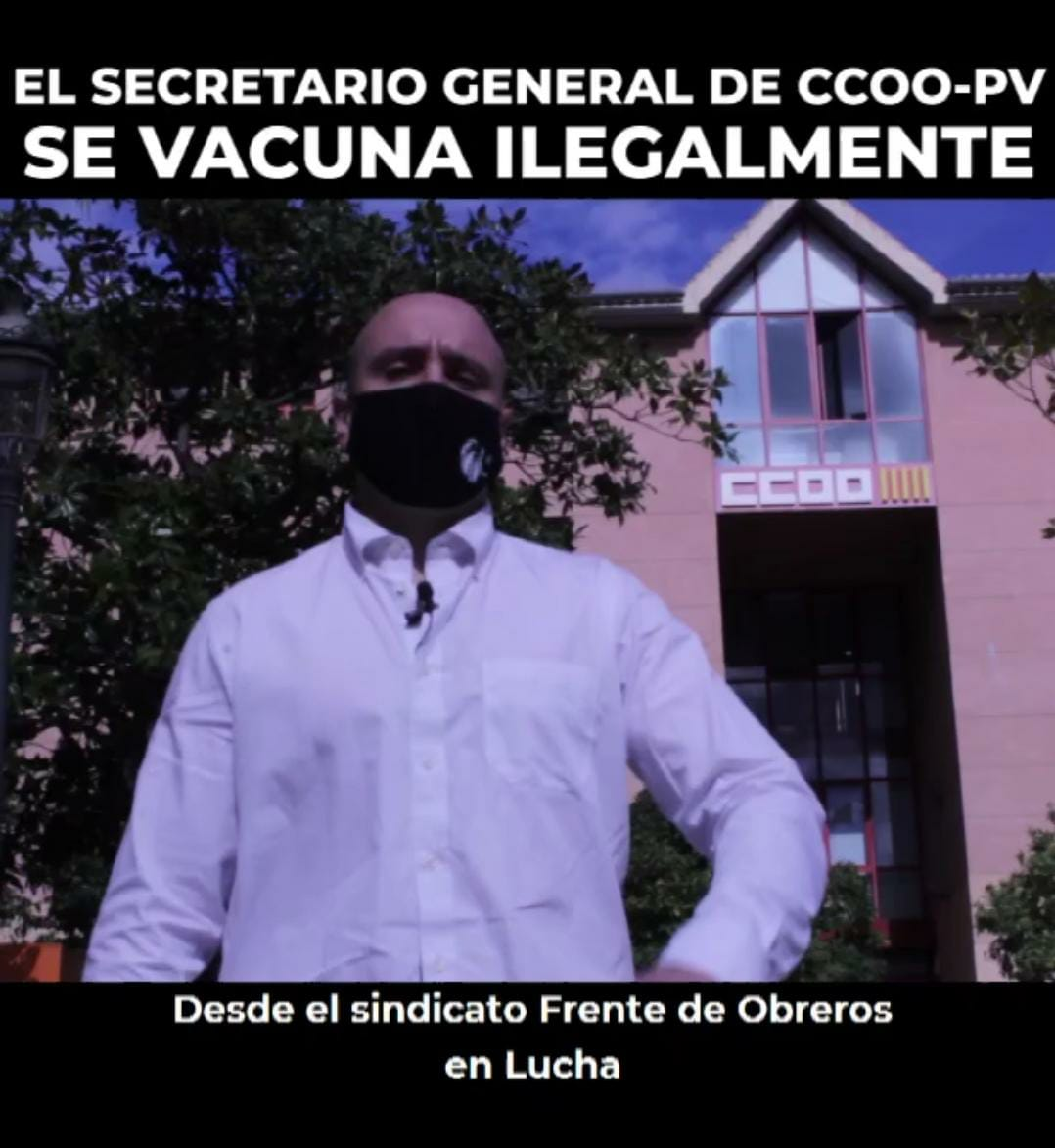 El Secretario General De CCOO-PV Se Vacuna Ilegalmente