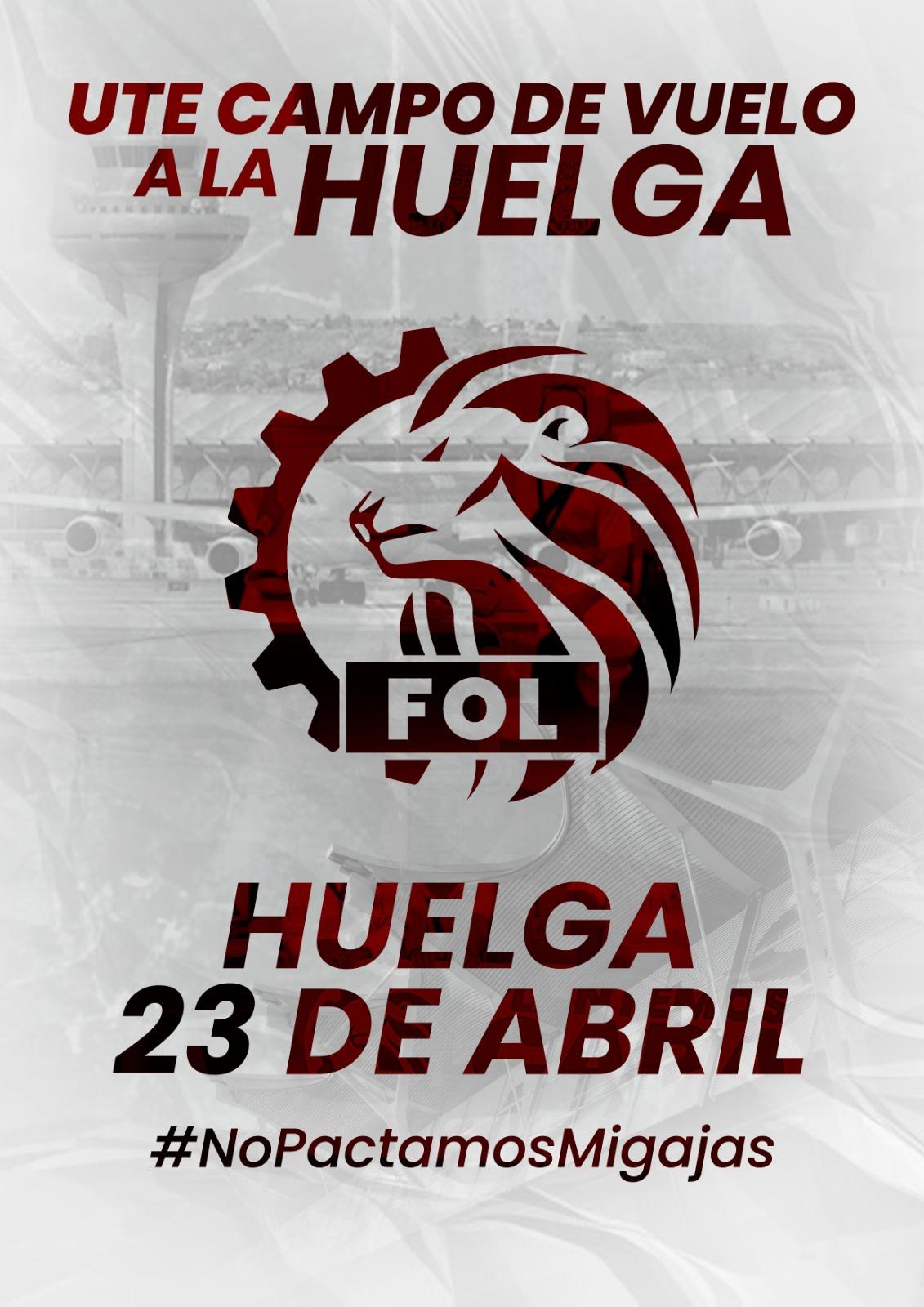 Huelga 23 De Abril De Trabajadores UTE Campo De Vuelo