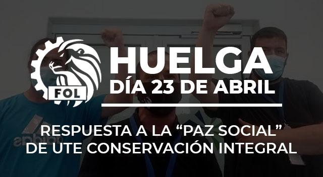 [Vídeo] Trabajadores UTE Conservación Integral